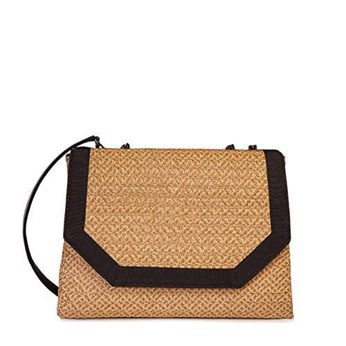 Eric Javits Stripe (Eric Javits Luxury Fashion Designer Women's Handbag - Hayward - Natural/Black)
