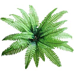 Large Artificial Imitation Boston Fern Bush Plant Green Decorative for Room Garden and Wedding (2)
