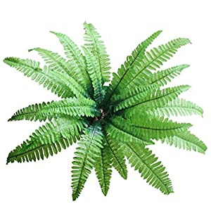 Large Artificial Imitation Boston Fern Bush Plant Green Decorative for Room Garden and Wedding (2) 83