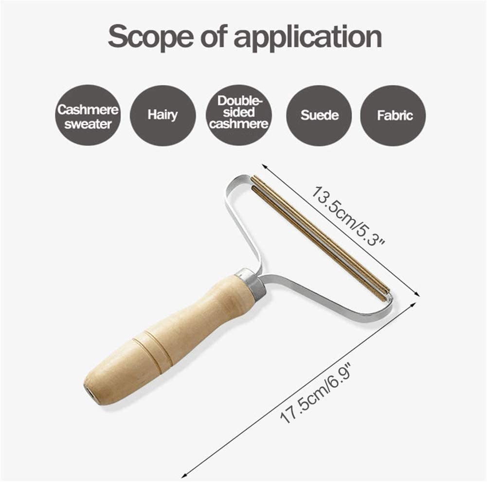 Wool Comb Lint Comb Wood Twakom Lint Shaver Lint Remover Portable Lint Remover Fuzz Shaver Cashmere Comb for Wool Cashmere and Other Fabrics