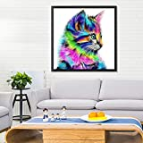 2 Pack 5D DIY Diamond Painting Animal Rhinestone Embroidery Cross Stitch Kit Crystals Embroidery Home Decor Craft by Standie (25 x 35 CM Puppy & 30 x 30 CM Cat)