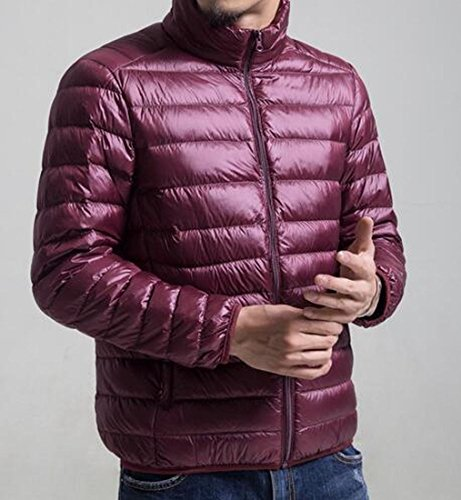 Warm Stand MK988 Coat Lightweight Collar Wine Mens Red Jacket Down Winter Outerwear wZXHXqx