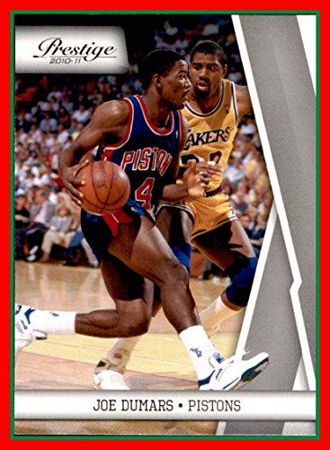 (2010-11 Prestige #132 Joe Dumars DETROIT PISTONS defended by Magic Johnson Lakers McNeese)