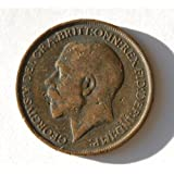 King George V 1912 British One Large Penny Coin. The Year the Titanic Sank