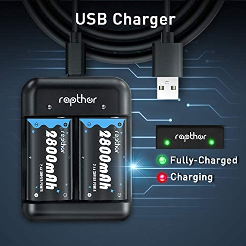 [2020 Upgraded] 2800mAh Xbox One Rechargeable Battery Pack, Rapthor High-capacity Ni-MH Xbox Controller Battery with Fast Charger, for Xbox One/Xbox One S/Xbox One X/Xbox One Elite Wireless Controller