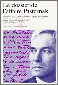 Le Dossier de l'affaire Pasternak par Jacqueline de Proyart