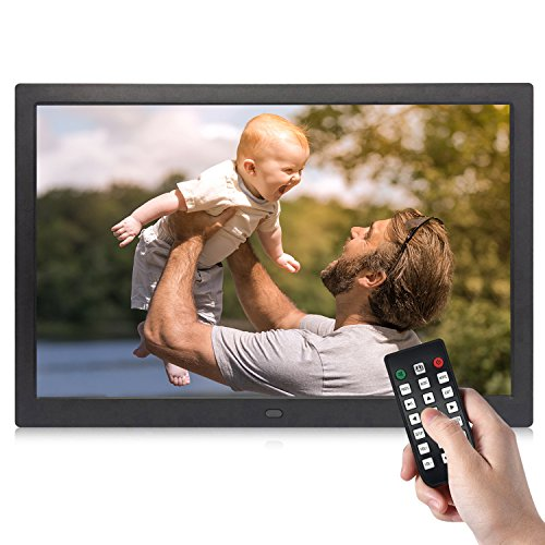 Digital Picture Frame, YENOCK 15.4 Inch 1280 x 800 High Resolution Photo/Music/HD Video Player/Calendar/Alarm Auto On/Off Advertising Player With Remote Control
