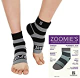 Zoomie's Plantar Fasciitis Socks - Heel, Arch Support Socks, Achilles Tendon and Ankle Support Socks - Foot Sleeve - 1 Pair (Black-Gray Stripes, X-Large)