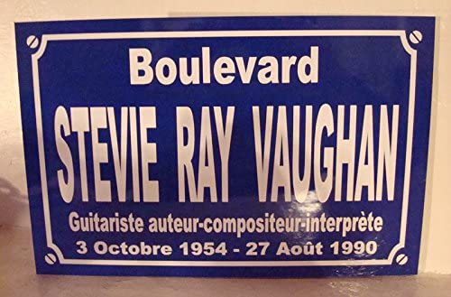 STEVIE RAY VAUGHAN plaque de rue objet collection cadeau pour fan d/éco originale