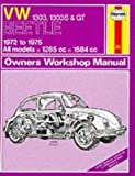 Volkswagen Beetle 1303, 1303S and G.T. 1972-75 Owner's Workshop Manual (Service & repair manuals) by Haynes, J. H., Kinchin, K.F. published by J H Haynes & Co Ltd (1988)