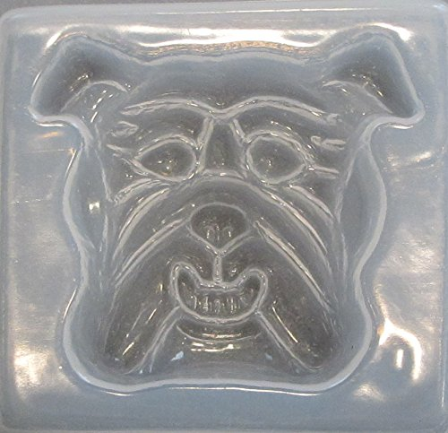 Plastic Dog Mold (Bulldog reusable plastic mold 894)