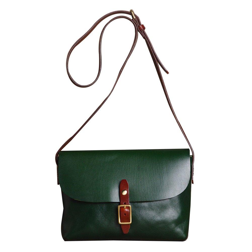 Genda 2Archer Women's Cowhide Genuine Leather Purse Small Crossbody Shoulder Bag (Green)