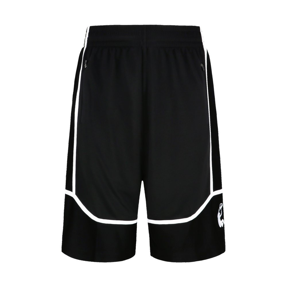 Sanheng Mens Freestyle Shorts Street Basketball Shorts Breathable Shorts for Basketball-Black//Red