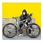 26-Pollici-21-velocit-Bicicletta-Adulto-Bicicletta-MTB-Bicicletta-Mountain-Bike-Biciclette-Doppio-Freno-A-Disco-Acciaio-Alto-Tenore-Carbonio-TelaioWhite-Black