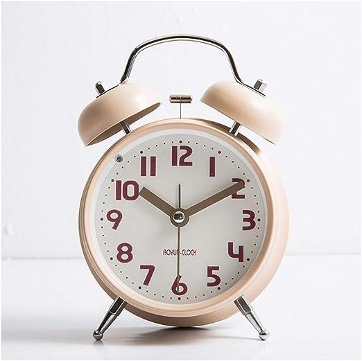High Quality Mini Metal Small Alarm Clock Fashion Student Electronic Clock US