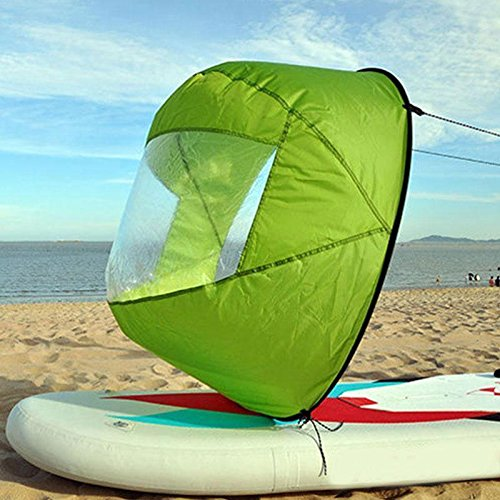 Flashsolar Green 42'' Downwind Wind Paddle Popup Board Kayak Sail Kit Kayak Wind Sail Kayak Accessories, Easy Setup & Deploys Quickly, Compact & Portable by Flashsolar