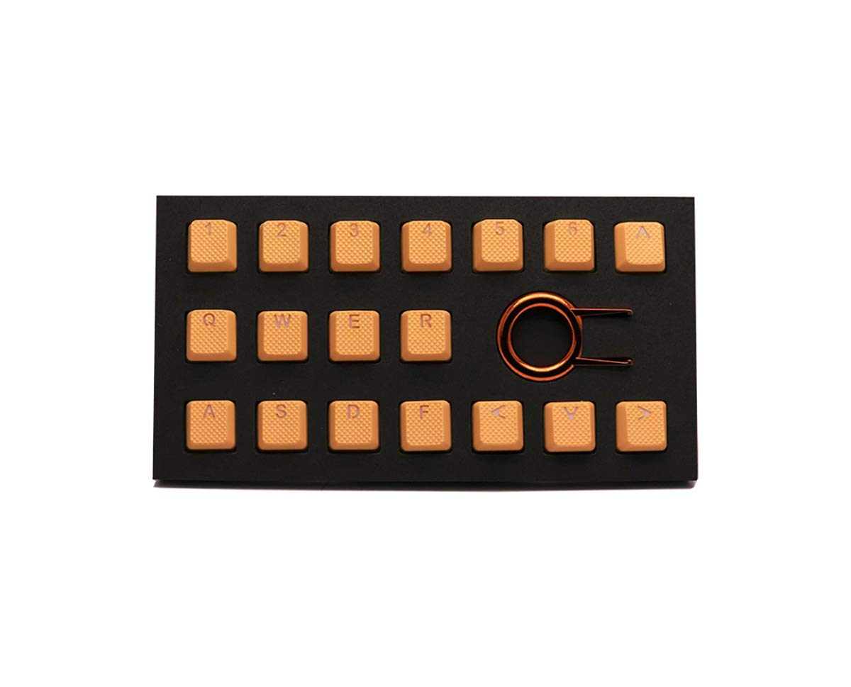 Rubber Gaming Backlit Keycaps Set – for Cherry MX Mechanical Keyboards Compatible OEM Include Key Puller Neon Orange