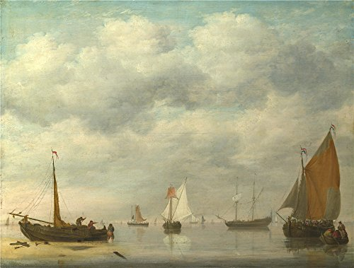 Oil Painting 'Jan Van Os Dutch Vessels In Calm Water', 30 x 40 inch / 76 x 101 cm , on High Definition HD canvas prints is for Gifts And - Eyeglasses Nyc Designer
