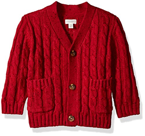Gymboree Baby Boys Long Sleeve Shawl Collar Cardigan, Rooster red, 18-24 - Rooster 24