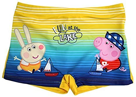 09a4500d9345f Boys Swim Trunks Peppa George Pig Ahoy Captain Swimming Boxer Style Sizes  from 3 to 8 Years: Amazon.co.uk: Clothing