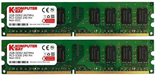 Komputerbay 4GB 2x 2GB DDR2 PC2 5300 667Mhz 240 Pin DIMM 4 GB KIT