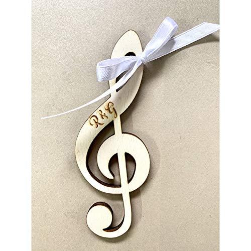 Segnaposto Matrimonio Tema Musica.Segnaposto Chiave Di Violino A Tema Musicale Amazon It Handmade