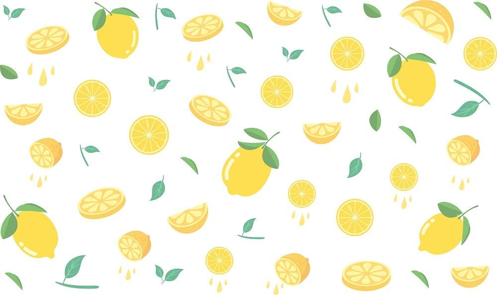 "DrCor Lemon Kitchen Wall Decal Wall Stickers Summer Yellow Farmhouse Home Bedroom Decor, 2 Sheets, 23""x14"""