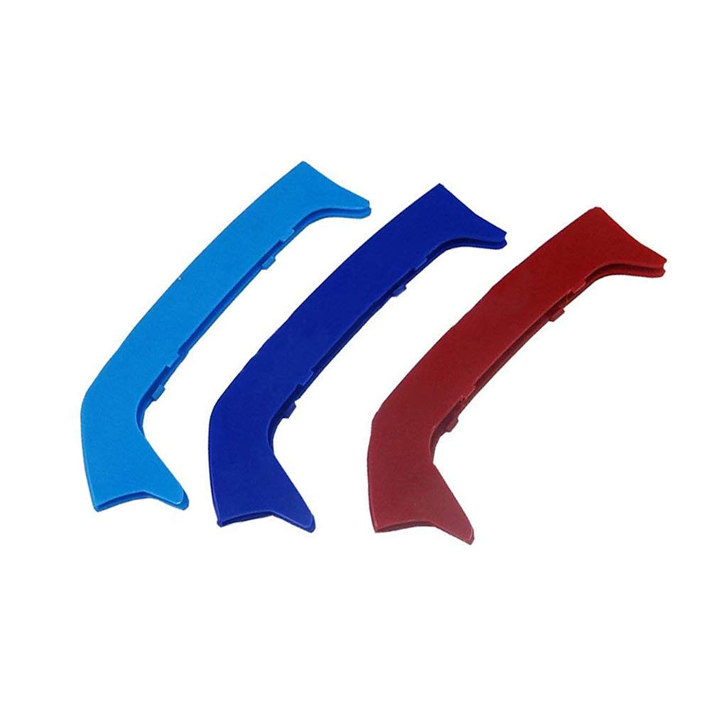 -Kidney Grills Insert Accessories-M-Color Front Grille Stripe Decals More Comprehensive and Professional Sataka-for BMW 3 Series E46 316i 318i 320i 325i 328i 330i 323i 2002-2005 11 Grilles