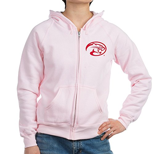 CafePress - Houston Cougar Mascot Logo - Womens Zip Hoodie, Classic Hooded Sweatshirt with Metal Zipper Pale Pink (Mascot Houston Pants)