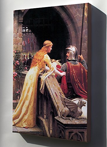 Canvas 16x24; God Speed! By Edmund Blair Leighton, 1900 A Late Victorian View Of A Lady Giving A Favour To A Knight About To Do Battle
