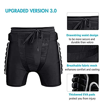 Protection Hip 3D Padded Protective Shorts for Snowboard Skate and Ski: Clothing