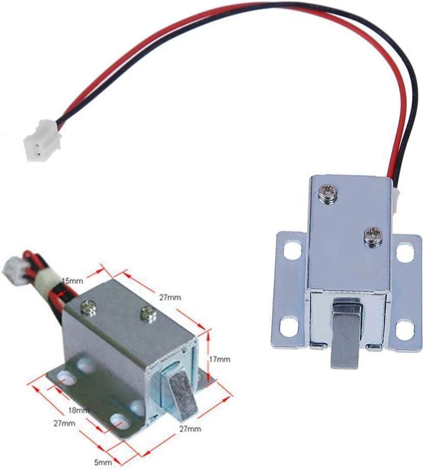 Mini DC 6/V//12/V Serrure /électrique /électromagn/étique pour verrou de porte Cabinet tiroir Outil Assemblage de serrure /électrique sol/éno/ïde