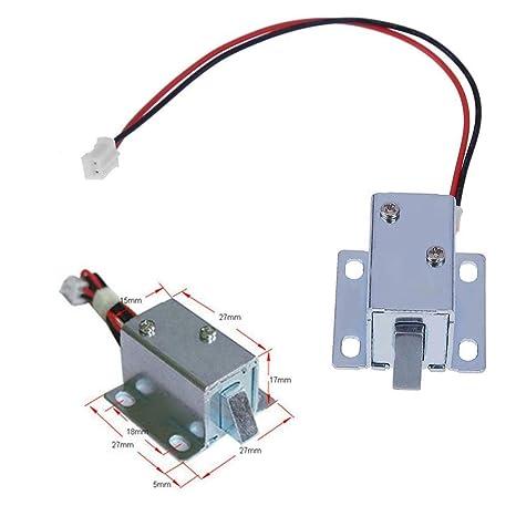 DC 6 V/12 V cerradura eléctrica Mini armario puerta cajón cerradura electromagnética montaje solenoide