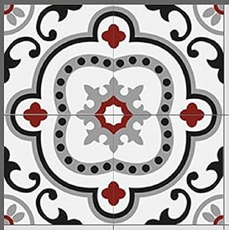 Zementfliesen Radia gr/ün rot cremewei/ß Bestelleinheit: Karton mit 10 Fliesen