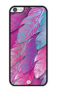 iZERCASE Pink Feather RUBBER iPhone 5C Case - Fits iPhone 5C T-Mobile, AT&T, Sprint, Verizon and International