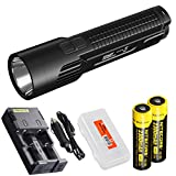 Nitecore EC4GT Die-Cast CREE XP-L HI V3 LED 1000 Lumen Flashlight with Two Rechargeable Batteries, Charger Set and LumenTac Battery Organizer Review