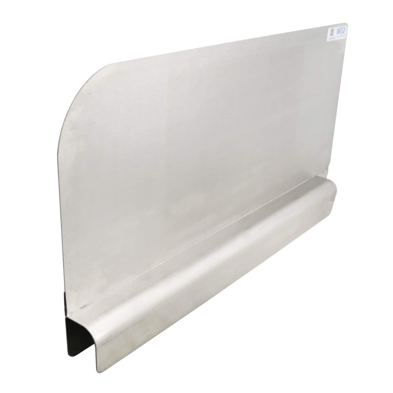 EquipmentBlvd Stainless Steel Insert Type Splash Guard for Compartment Sinks (28'' L x 11'' H Left)