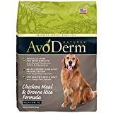 AvoDerm Natural Senior Dry Dog Food, Supports Joint Health, Chicken &...
