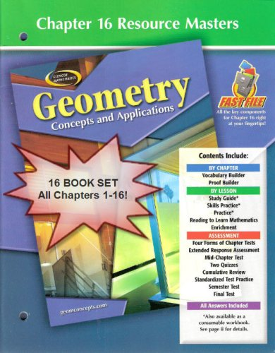 Glencoe Mathematics Geometry Concepts And Applications