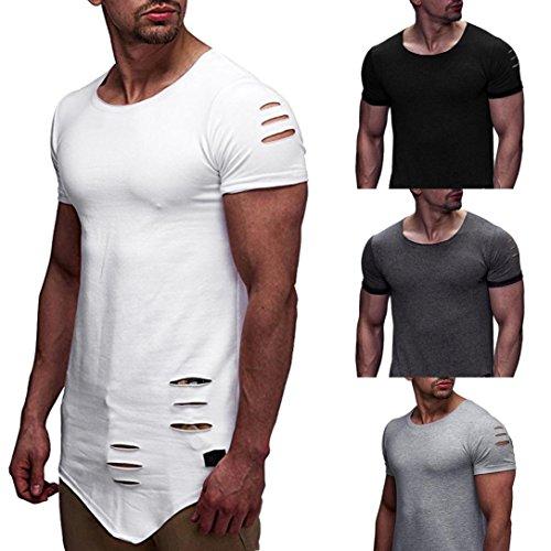 Camiseta Para Hombre, 💝Xinantime Personalidad de Moda Hole T-Shirt Camisa de Manga Corta Delgada Casual Para Hombres Blusa Superior, M-3XL: Amazon.es: Ropa ...