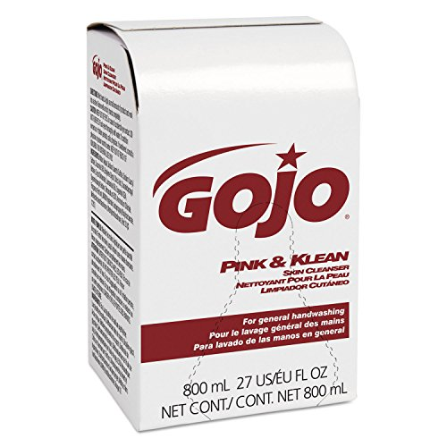 GOJO 912812CT Pink and Klean Skin Cleanser 800mL Dispenser Refill, Floral (Case of ()