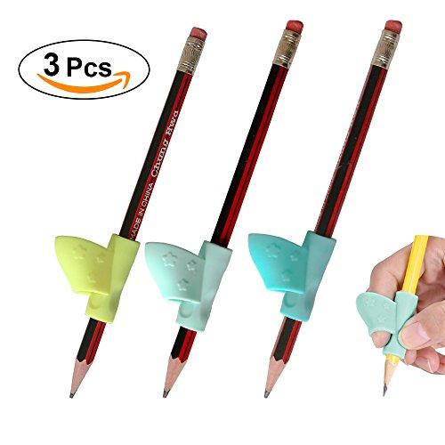 Ergonomic Training Children Pencil Grip, Pencil Holder, Pen Writing Aid Grip Posture Correction Tool Writing CLAW for Pencils and Utensils--Kids Students Toddlers Preschoolers Kindergarten 3PCS (Proper Training)