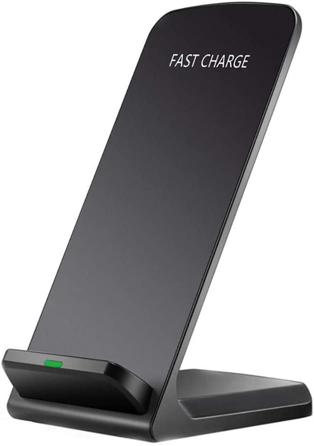S10e S10 XR,X,8 Plus; Samsung Galaxy Note 10 Plus S10+ Wireless Charger Stand for iPhone 11 Pro Max,XS MAX S9 Plus Black