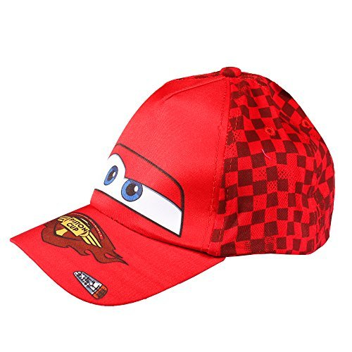 """Disney Cars """"Piston Cup"""" Baseball Cap for Little Boys - 2 Different Colors (Red)"""