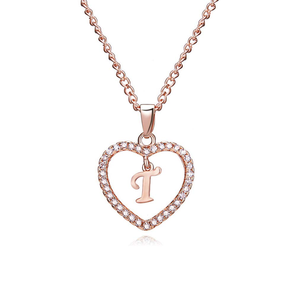 Personalised Rose Gold Plated Initial Letter Clip On Charm Alphabet