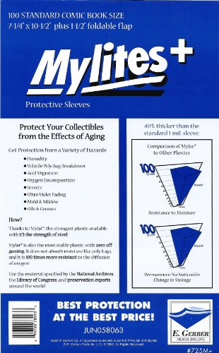 (Mylites+ Standard Comic Book Mylar Sleeves 7 1/4
