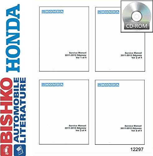 Honda Wiring Diagrams - bishko automotive literature 2011 2012 Honda Odyssey Shop Service Repair Manual CD Engine Drivetrain Wiring
