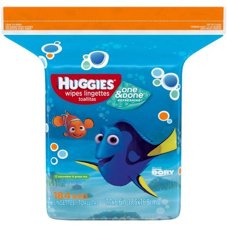 Huggies Baby Wipes Ingredients (HUGGIES One & Done Naturally Refreshing Baby Wipes Refill, 184)