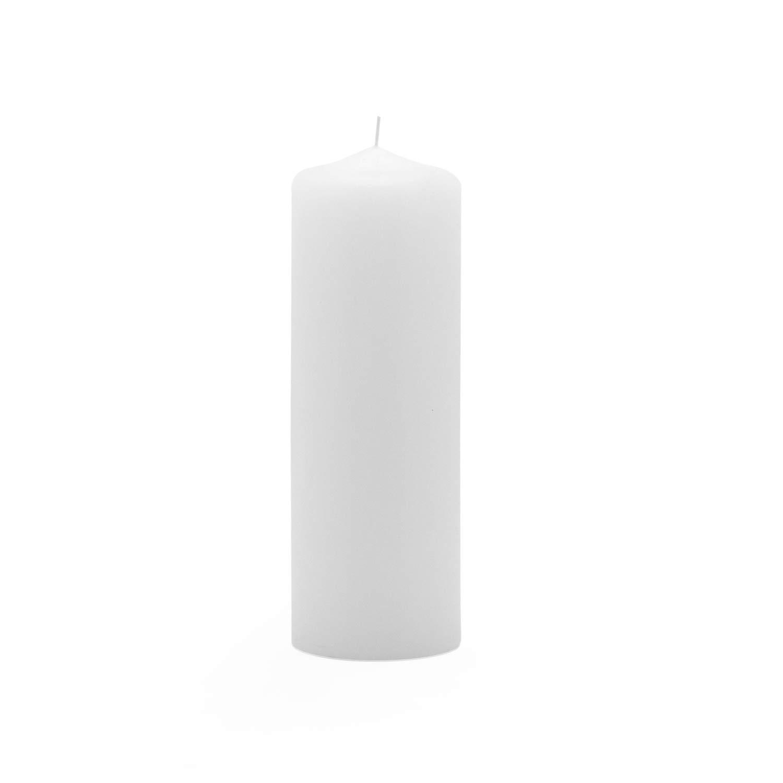 Royal Imports Pillar Candle Wedding, Birthday, Holiday & Home Decoration, 2''x6'', White Wax, Set of 12