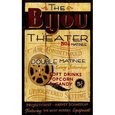 Bijou Vintage Theatre Sign - Wallpaper Bijou